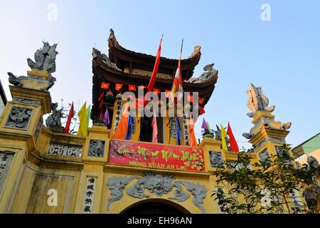 Buddhist temple Pagoda in Hanoi, Vietnam - Stock Photo