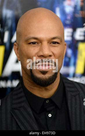 New York, NY, USA. 9th Mar, 2015. Common at arrivals for RUN ALL NIGHT Premiere, AMC Theater at Lincoln Square, - Stock Photo