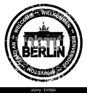 Berlin grunge style ink stamp - Stock Photo