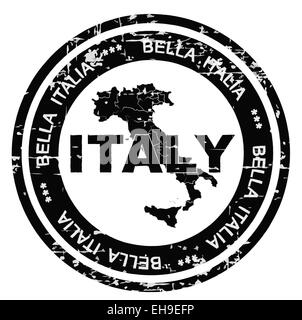 Italy grunge style ink stamp.