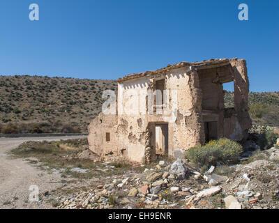 Derelict Spanish villa - Stock Photo