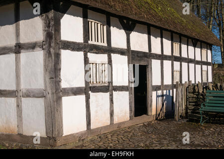 Abernodwydd Farmhouse St Fagans Cardiff South Wales - Stock Photo