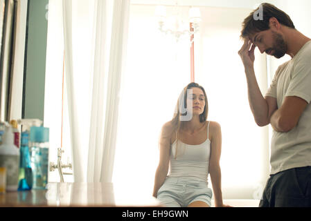 Couple experiencing relationship difficulties - Stock Photo
