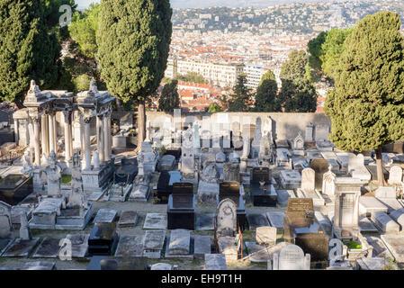 cemetery on Castle Hill (Cimetière Colline du Château) Nice - Stock Photo