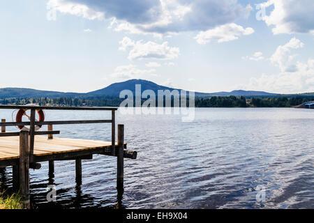 Waterfront, Lake Siljan, Solleron, Mora Municipality, Dalarna County, Sweden - Stock Photo