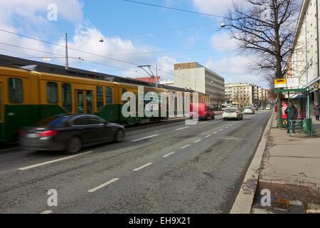 Street scene, Helsinki Finland - Stock Photo