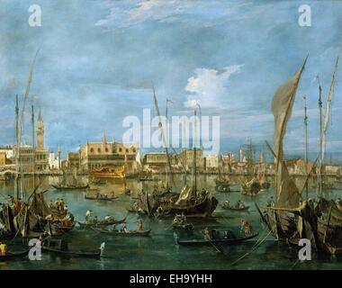 Francesco Guardi  Venice from the Bacino di San Marco - Stock Photo