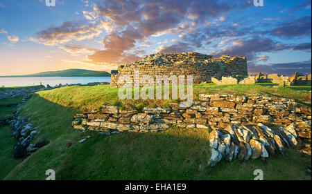 The Broch of Gurness  village dating from 500 to 200BC , Mainland Orkney, Scotland. - Stock Photo