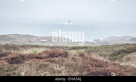 Cape Clear Island,Ireland looking out towards Fastnet Lighthouse - Stock Photo