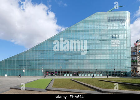Urbis Building housing the National Football Museum in Manchester, England - Stock Photo