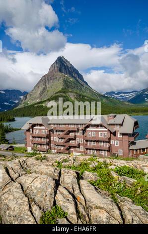 Many Glacier Hotel, of Glacier National Park, Montana, USA