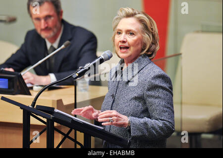 New York, USA. 10th March, 2015. Potential: Business Partners for Gender Equality'. 10th Mar, 2015. Former US Secretary - Stock Photo