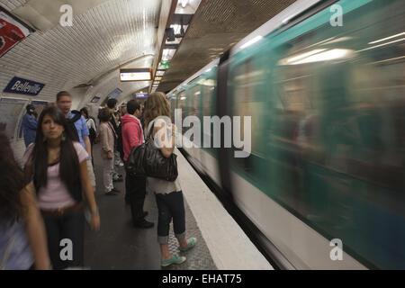 Paris metro station, France
