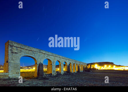 Mediterranean Europe, Malta, Gozo Island, Victoria (Rabat), Aqueduct - Stock Photo