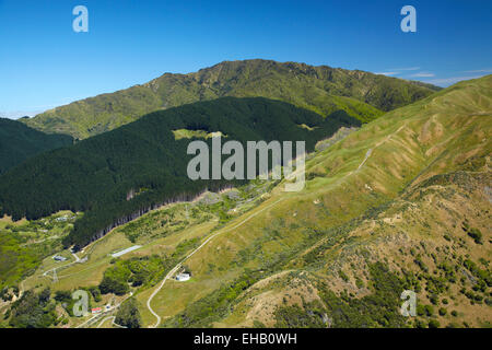 Transmission Gully, proposed motorway route, Paekakariki, Kapiti Coast, north of Wellington, North Island, New Zealand; - Stock Photo