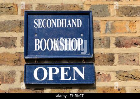Secondhand Bookshop Open - Stock Photo