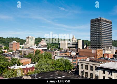 Asheville North Carolina city skyline - Stock Photo
