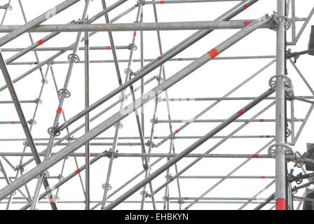 Construction scaffold isolated on the white background - Stock Photo