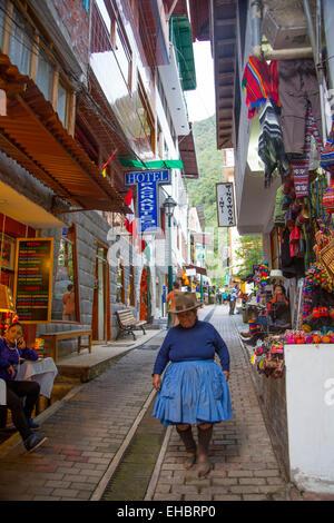 Machu Picchu, Pueblo, Aguas Calientes,  Cusco Region, Urubamba Province, Machupicchu District, Peru - Stock Photo
