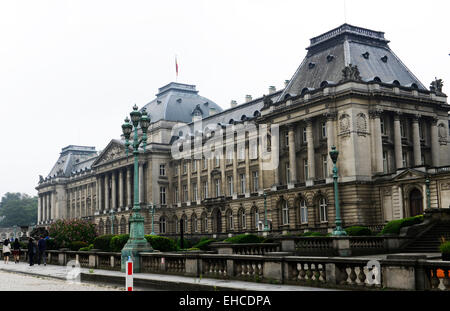 Exterior view of the royal palace of Brussels. - Stock Photo