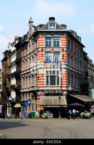 The popular Brasserie Leffe in Brussels. - Stock Photo
