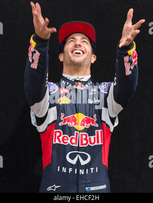 Albert Park, Melbourne, Australia. 12th Mar, 2015. Daniel Ricciardo (AUS) #3 from the Infiniti Red Bull Racing team - Stock Photo