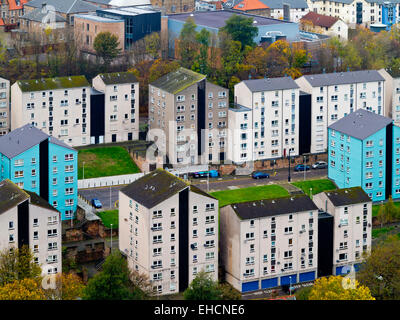 Modern apartment blocks at Holyrood in Edinburgh city centre Scotland UK - Stock Photo