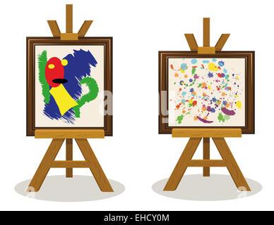 two modern art pieces - Stock Photo