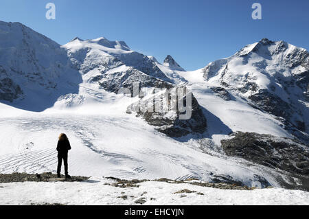 View from the Diavolezza - Stock Photo