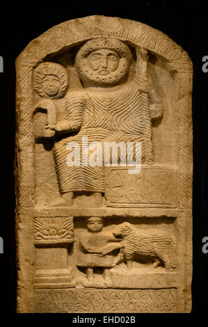 Punic stele god Saturn Roman Carthage elements from ancient Punic culture were combined with Roman influences.  - Stock Photo