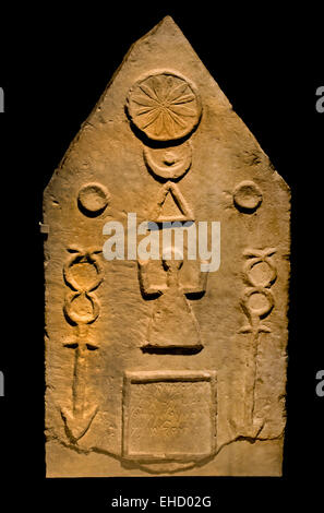 Punic stele  Roman Carthage elements from ancient Punic culture were combined with Roman influences. 1 -  2nd century - Stock Photo