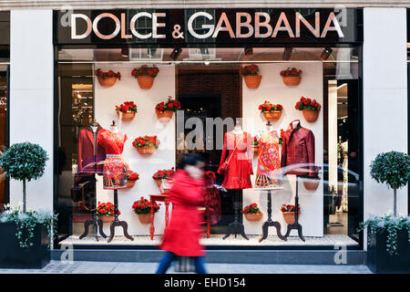 Dolce and Gabbana store window display in Mayfair, London. - Stock Photo