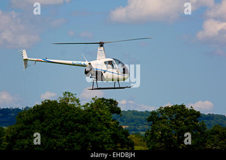 Robinson R22 Beta Two Seat Civil Private Small Helicopter At Stock Photo Roy