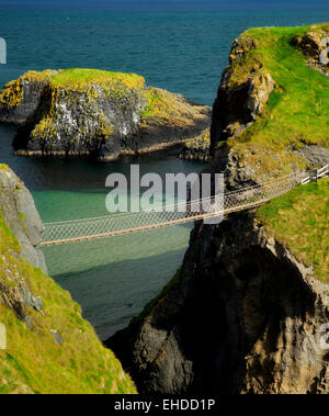 Carrick-a-Rede Rope Bridge. Northern Ireland - Stock Photo