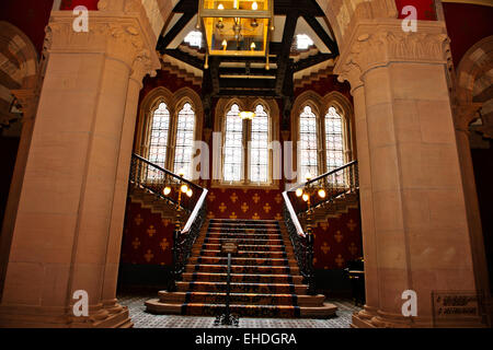 Renaissance Hotel,Lobby,Interior original grand staircase & vestibule,in keeping with Victorian design,St Pancras - Stock Photo