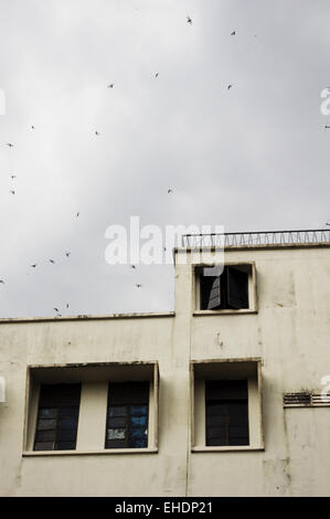 old buidling with windows - Stock Photo