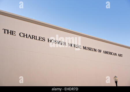 The Charles Hosmer Morse Museum in historic downtown Winter Park, Florida. - Stock Photo