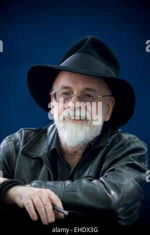 English fantasy, science fiction and children's author Terry Pratchett pictured at the Edinburgh International Book - Stock Photo