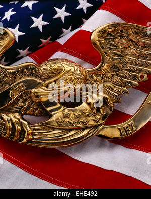 US Flag with eagle - Stock Photo