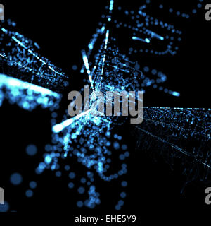 blue abstract neon technological background