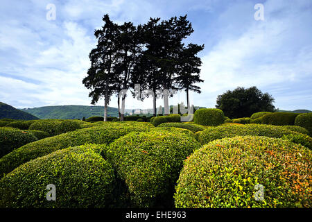 overhanging Gardens of Marqueyssac, France - Stock Photo