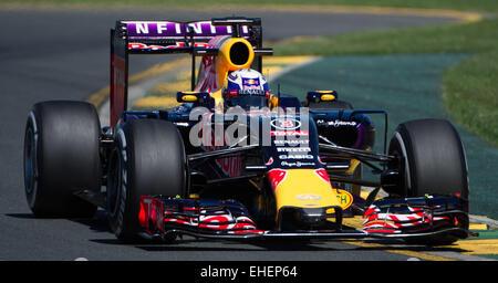 Melbourne, Australia. 13th Mar, 2015. Infiniti Red Bull Racing Formula One driver Daniel Ricciardo of Australia - Stock Photo