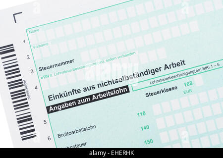 Anlage N / German income tax - Stock Photo