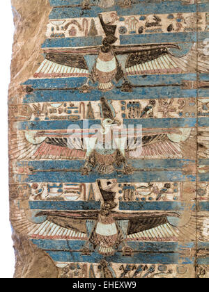 Ceilings at The Temple of Haroeris and Sobek at Kom Ombo in the Nile Valley, Upper Egypt - Stock Photo