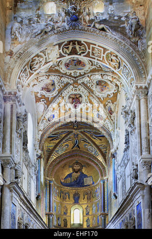apse, cathedral of Cefalu, Sicily, Italy - Stock Photo