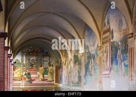 abbey Monte Oliveto Maggiore, Tuscany, Italy - Stock Photo