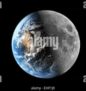 The earth to the moon image synthesis - Stock Photo