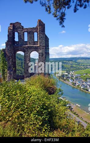 Grevenburg, Ruine ueber Traben-Trarbach, Mosel, Mittelmosel, Rheinland-Pfalz, Deutschland, Europa | Grevenburg, - Stock Photo