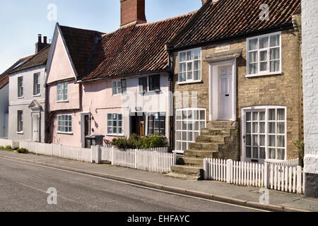 Aldeburgh, Suffolk, UK. The Old Custom House at the end of the High Street - Stock Photo