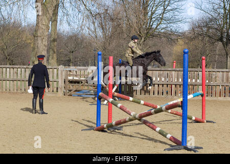 Household cavalry training ground - Stock Photo